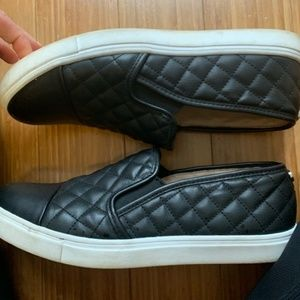 Steve Madden quilted leather slip ons